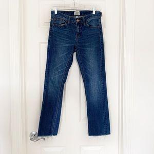J Crew Selvedge Matchstick Straight Jeans Sz 25